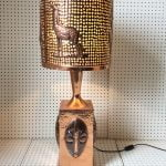 A Stunning Unique Large Hand Wrought Copper Lamp