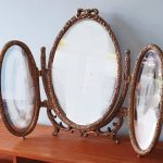 Vintage triple folding dressing table mirror