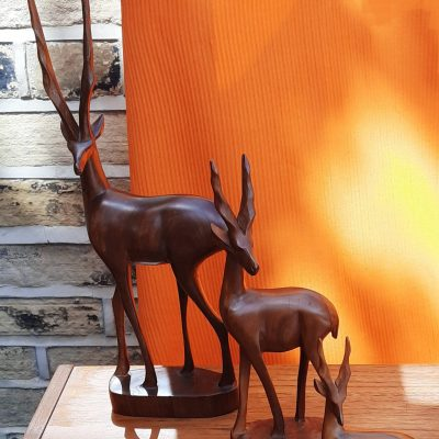 Vintage Wooden Antelopes
