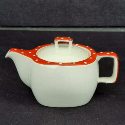 Midwinter Red Domino Teapot