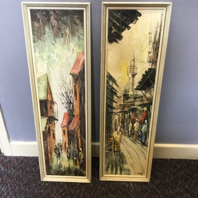 Pair Of Midcentury French Paintings