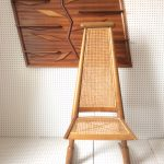 An Unusual Boho Style Wood and Cane Chair