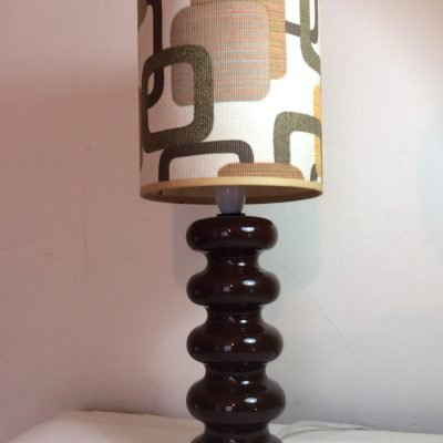 Doulton 1970's Ceramic Sheerlite lamp with Shade