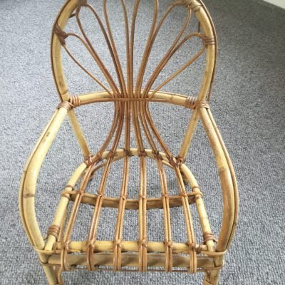 1960s Childs Cane Boho Chair