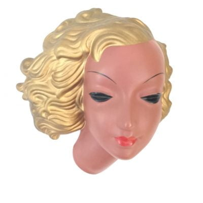 1930s Art Deco Lady Wallmask