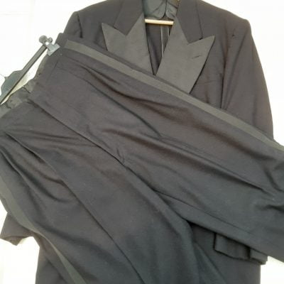 Gents Genuine Early 1950s Midnight Blue Dinner Suit Original Vintage Mid Century
