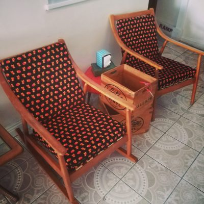 Vintage Danish Rocker and Chair Set