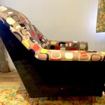 1950'S CLASSIC ARM CHAIR IN SANDERSON PRINT (matching pair available)