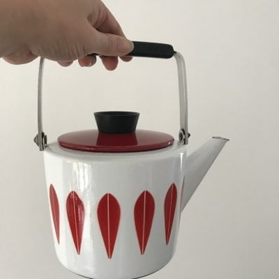 Rare Catherineholm Kettle in Red and White