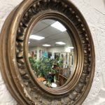 Small Gilt Round Mirror