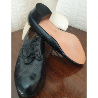1940s N.O.S Black Leather Lace up Day Shoe