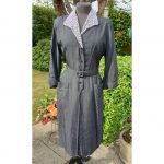 1940s VOLUP Black & Lavender Shirt-waister Dress