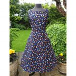 1970s does 50s VOLUP Navy Floral Sundress