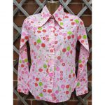 1960s N.O.S Novelty Apple print Blouse