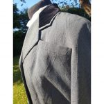 1950s Grey Wool Worsted Skirt Suit by Dellbury London