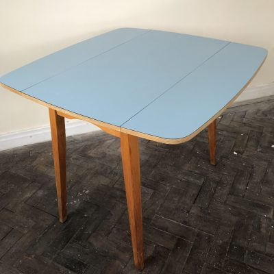 powder-blue formica top table