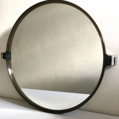 Vintage brown angled mirror