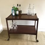 Mid-Century wooden drinks trolley