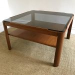 vintage smoked-glass coffee table by Myer