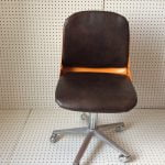 1970's Orange Wilkhahn Swivel Chair