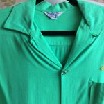 Late 1950s Bright Green Rayon Gabardine Bowling Shirt