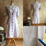 Late 1930s / early 1940s cotton summer dress