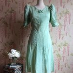 1930s Seersucker Cotton Dress