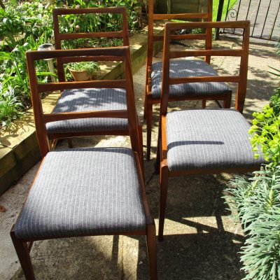 Vintage Set of 4 Richard Hornby Afromosia Dining Chairs
