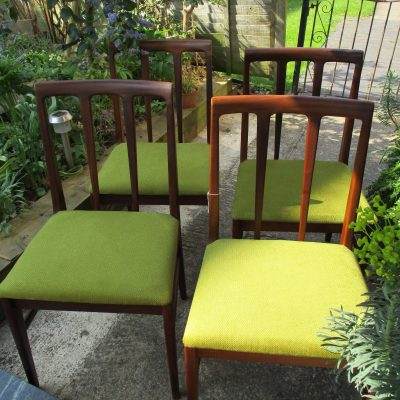 Vintage Younger Fonseca Afromosia Set of 4 Dining Chairs