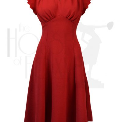 40s Grable Tea Dress – Red