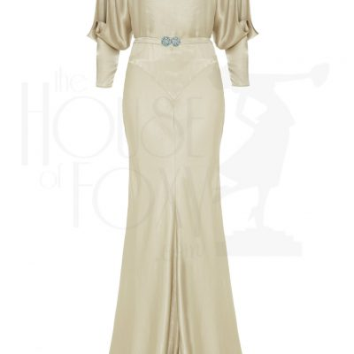 30s Siren Evening Gown – Oyster