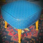 1960's Leatherette Pouffe by Sherborne