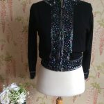 1950s SEQUIN AND BEAD CARDIGAN
