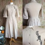LATE 1940s / EARLY 1950s SHIRT WAIST DRESS