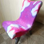 Vintage Petite Pink Tie Dye Velvet Cocktail Bedroom Accent Chair