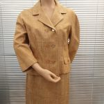 Genuine Late 1950's Gold coloured Raw Silk Ladies Suit, Mid Century, Original Vintage '50's