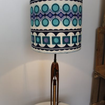 Vintage Cotton Shuttle Base Lamp