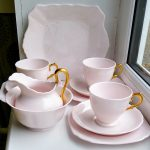 Vintage Pink and Gold Tuscan China Tea Set
