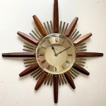 ACCTIM 1970's STARBURST CLOCK