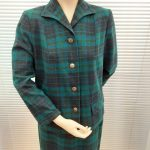 Genuine 1950s Blue and Green Plaid Ladies Pendleton Suit