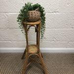 Bamboo Plant Stand with two shelves