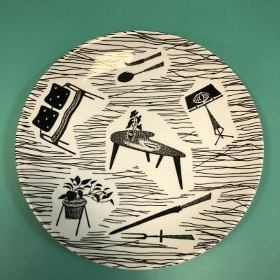 Homemaker Plate Designed By Enid Seeney for Ridegeway Potteries
