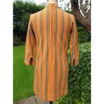 1960s Burnt Orange Geometric Stripe Wool Mod Scooter Dress