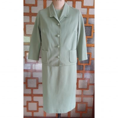 1960s Sage 3 piece Skirt Suit