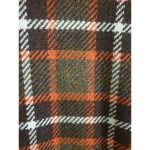 1960s Orange,Tan & White Plaid Wool Cape by Wetherall