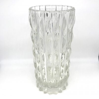 Italian pressed glass vase by Fidenza Vetraria