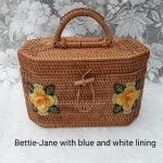 New Vintage Inspired Rattan Handbag, Bettie-Jane 1950s / 1960s style