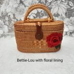 New Vintage Inspired Rattan Handbag, Bettie-Lou 1950s / 1960s style