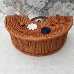New Vintage Inspired Rattan Handbag, Bettie-Mae 1950s / 1960s style