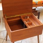 Vintage Jewellery/Sewing Teak Sewing Box